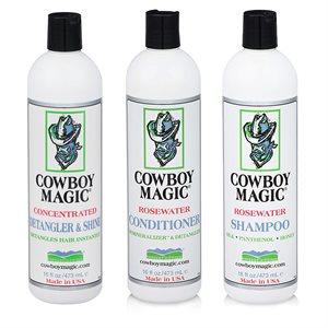 Cowboy Magic Promo Pack Detangler 16oz + Shampoo & Conditionner Free