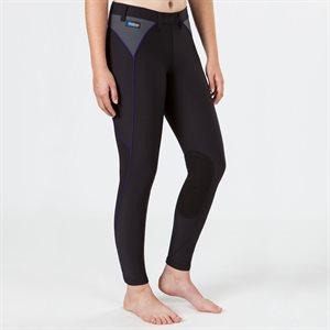Pantalon Genoux Renforcés Irideon Issential Pipeline pour Femme - Noir & Azurite