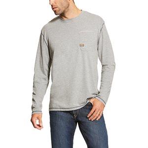 Ariat Men's ''Rebar'' Long Sleeves Work Shirt - Grey