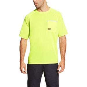 Ariat Men's ''Rebar Sunstopper'' Work Tee-Shirt - Lime