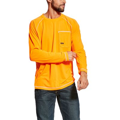 Ariat Men's ''Rebar Sunstopper'' Work Shirt - Orange
