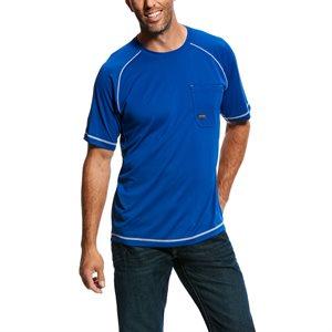 Ariat Men's ''Rebar Sunstopper'' Work Tee-Shirt - Royal Blue