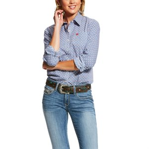 Ariat Ladies ''Kirby Stretch'' Shirt - Classic Blue