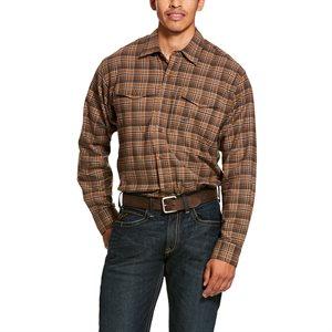 Ariat Men's ''Rebar Flannel DuraStretch'' Work Shirt - Zane Plaid