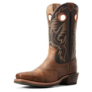Botte Western Ariat ''Heritage Roughstock'' pour Homme - Sorrel Crunch
