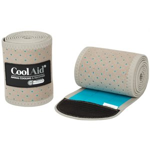 Weaver CoolAid Equine Icing and Cooling Polo Wraps - Tan
