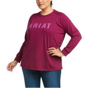 Ariat Ladies Rebar CottonStrong Block Work Shirt - Purple Potion
