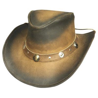 Bullhide Bunker Hill Leather Australian Hat