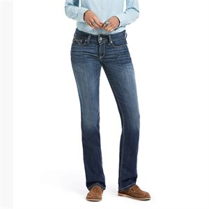 Ariat Ladies REAL Perfect Rise Stretch Skyway Western Jeans - Chill Blue