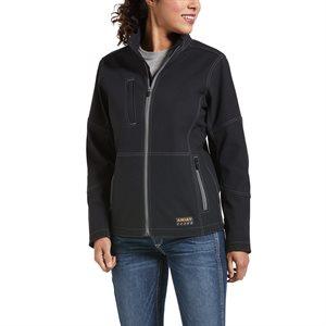 Ariat Ladies Rebar Stretch Canvas Softshell Work Jacket - Black