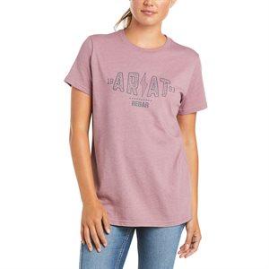 Ariat Ladies Rebar Cotton Strong Bolt Work T-Shirt - Grape Shake